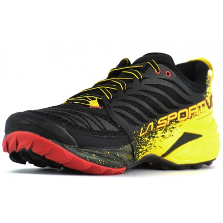 Akasha - Chaussures trail homme Black / Yellow 40,5