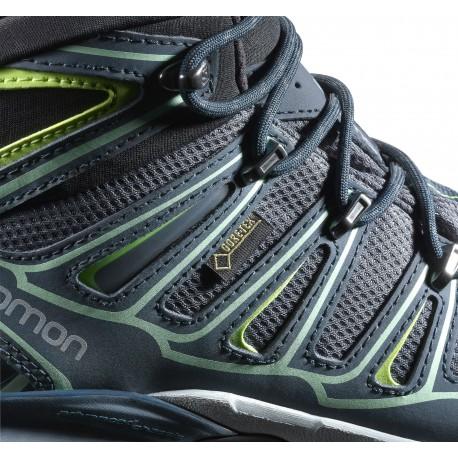 POLETTO Sandales femme.  40.5 EU X-Ultra Mid 2 GTX® - Chaussures trekking femme Grey Denim / Deep Blue / Lucite Green 36.2/3 uCDgbvLEi