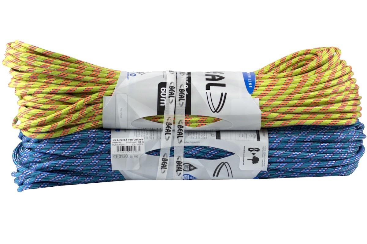 Beal Ice Line 8,1 mm Unicore Golden Dry - 2 x 60 m - Corde à double