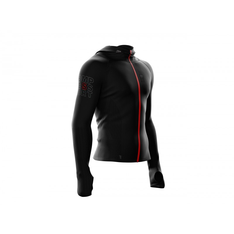Compressport 3D Thermo Seamless Woodpulp Zip Hoodie - Maillot homme homme