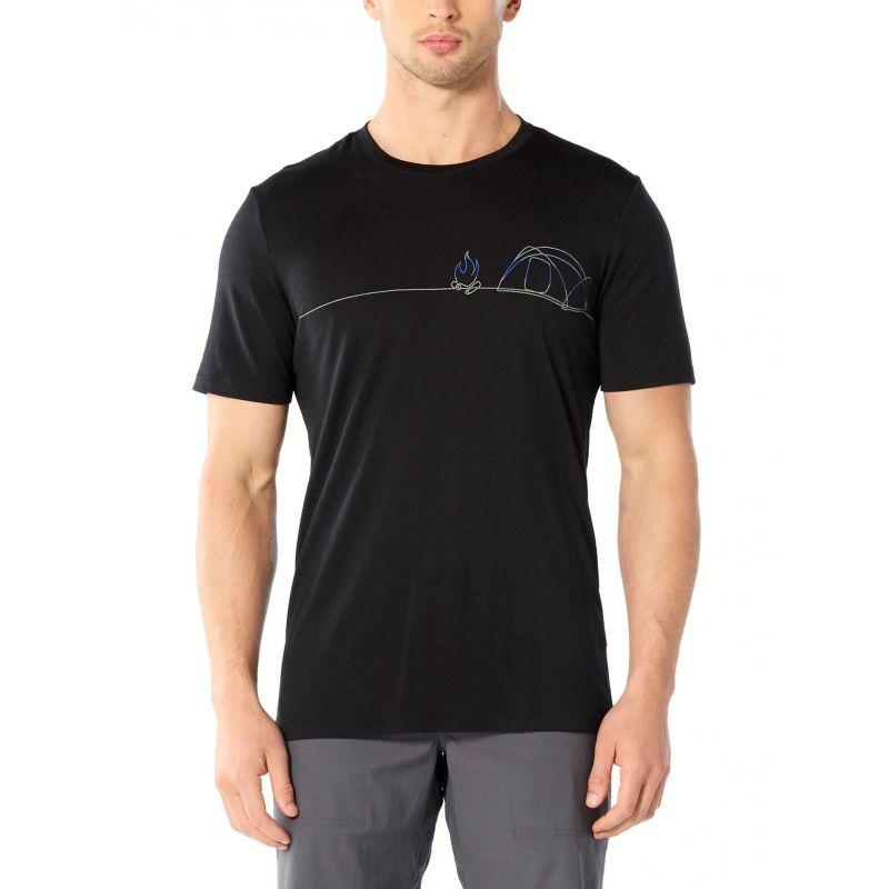 Icebreaker Tech Lite Short Sleeve Crewe Single Line Camp - T-shirt homme
