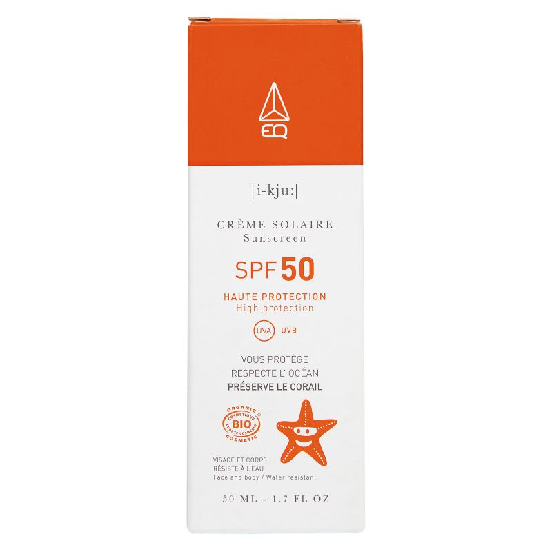 EQ Crème Solaire SPF50 - Crème solaire - Certifiée Bio