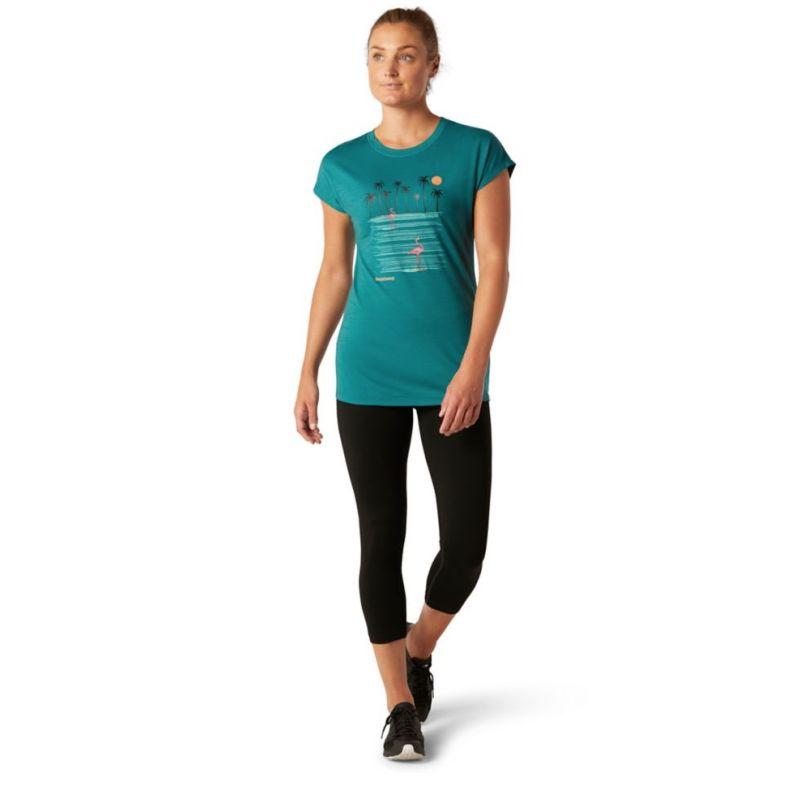 Smartwool Merino Sport 150 Surfing Flamingos Tee - T-shirt femme