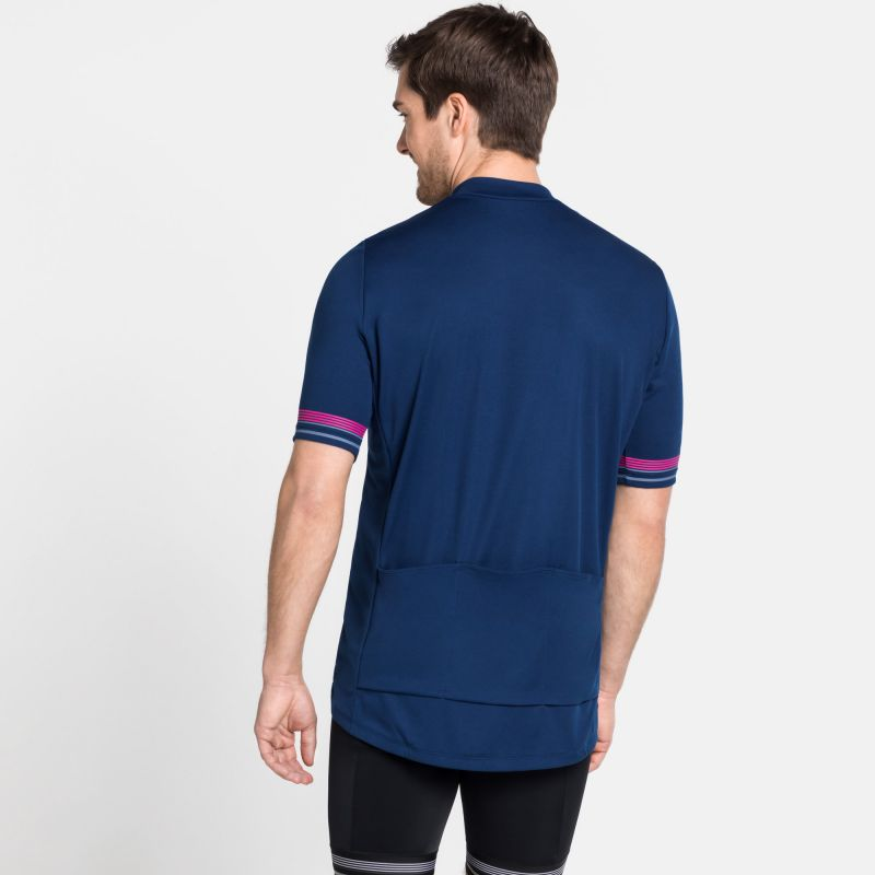 Odlo Stand-Up Collar S/S 1/2 Zip Element - Maillot vélo homme