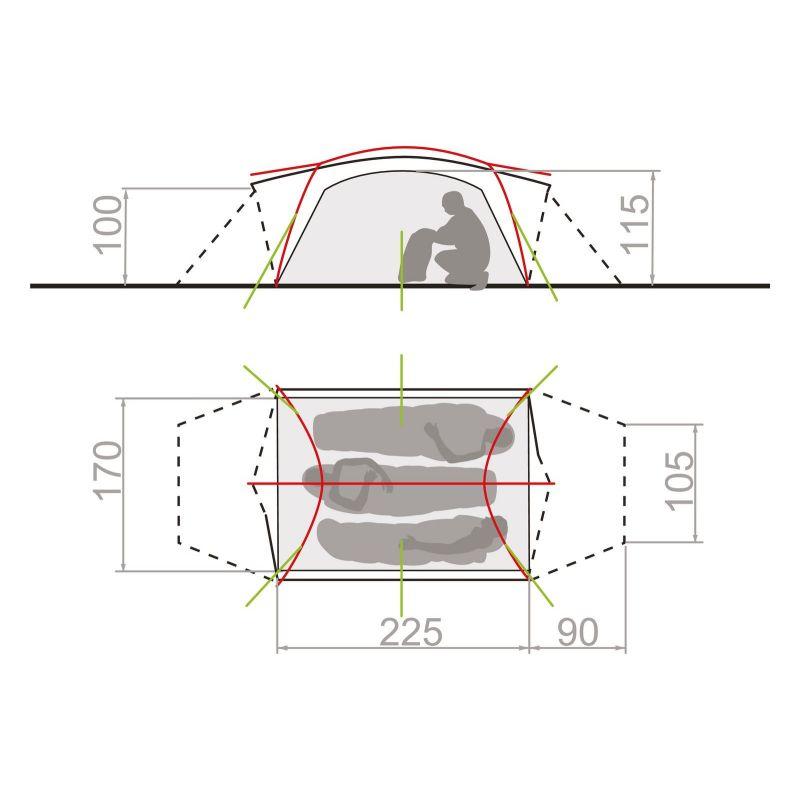 Vaude Mark 3P new - Tente