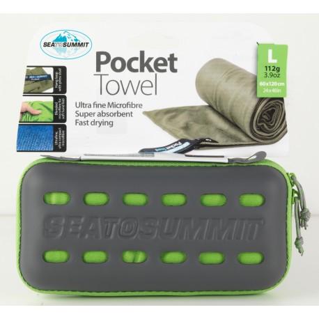 Sea To Summit Microfibre Pocket Towel - 120 x 60 cm - Serviette Unique