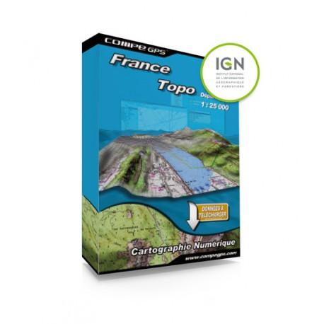 Twonav Carte France zone 1:25000