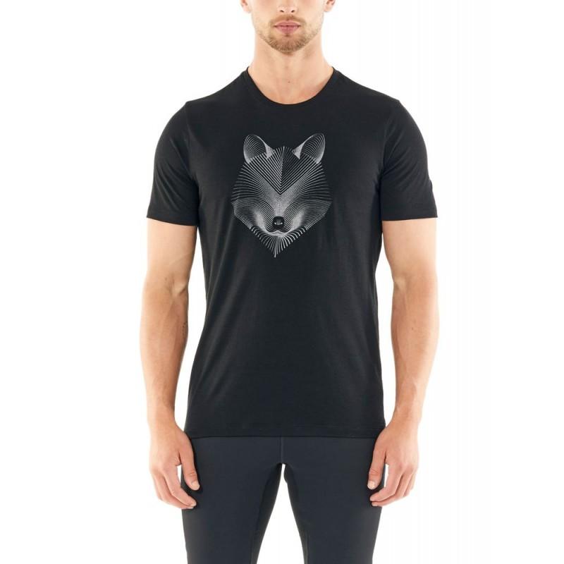 Icebreaker Mens Tech Lite SS Crewe Arctic Fox - T-shirt en laine mérinos homme