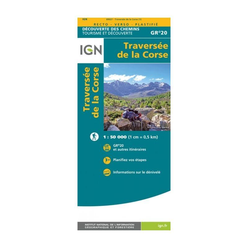 IGN Traversée De La Corse Gr20 - Carte topographique