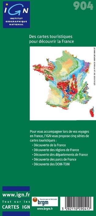 IGN Curiosités Géologiques - Carte topographique