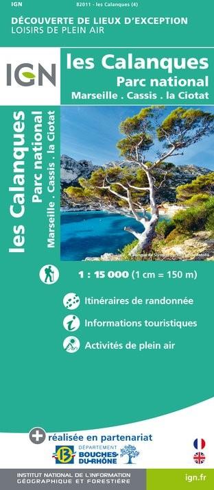 IGN Les Calanques - Carte topographique