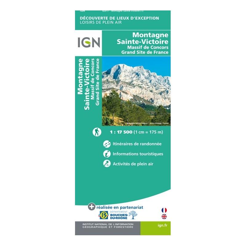 IGN Montagne Sainte Victoire - Carte topographique