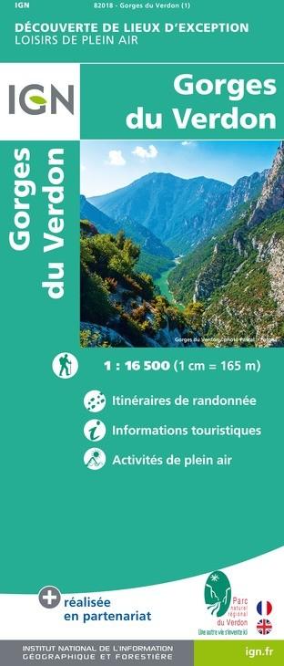 IGN Gorges Du Verdon - Carte topographique