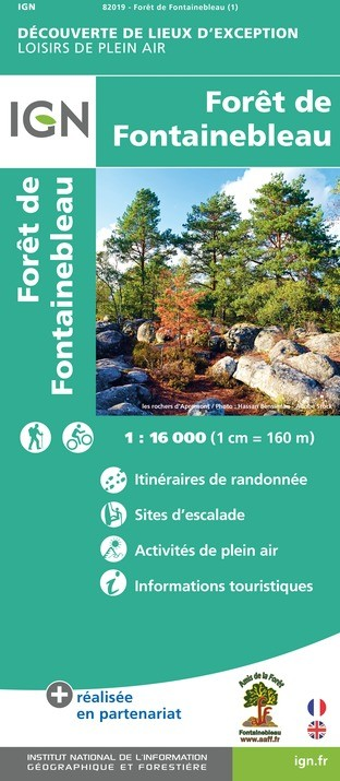 IGN Forêt De Fontainebleau - Carte topographique