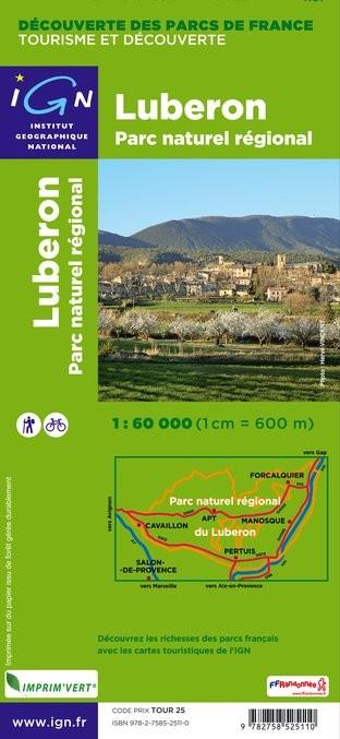 IGN P.N.R. Du Lubéron - Carte topographique