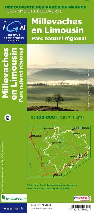 IGN Pnr Millevaches En Limousin - Carte topographique