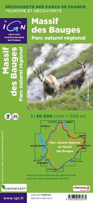 IGN Pnr Massif Des Bauges - Carte topographique