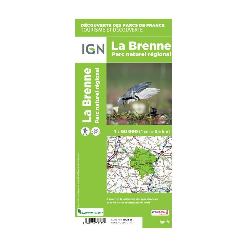 IGN P.N.R. De La Brenne - Carte topographique