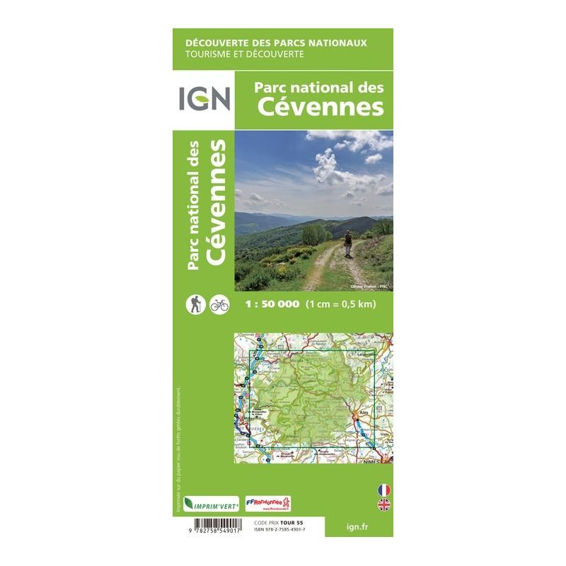 IGN Le Parc National Des Cévennes - Carte topographique