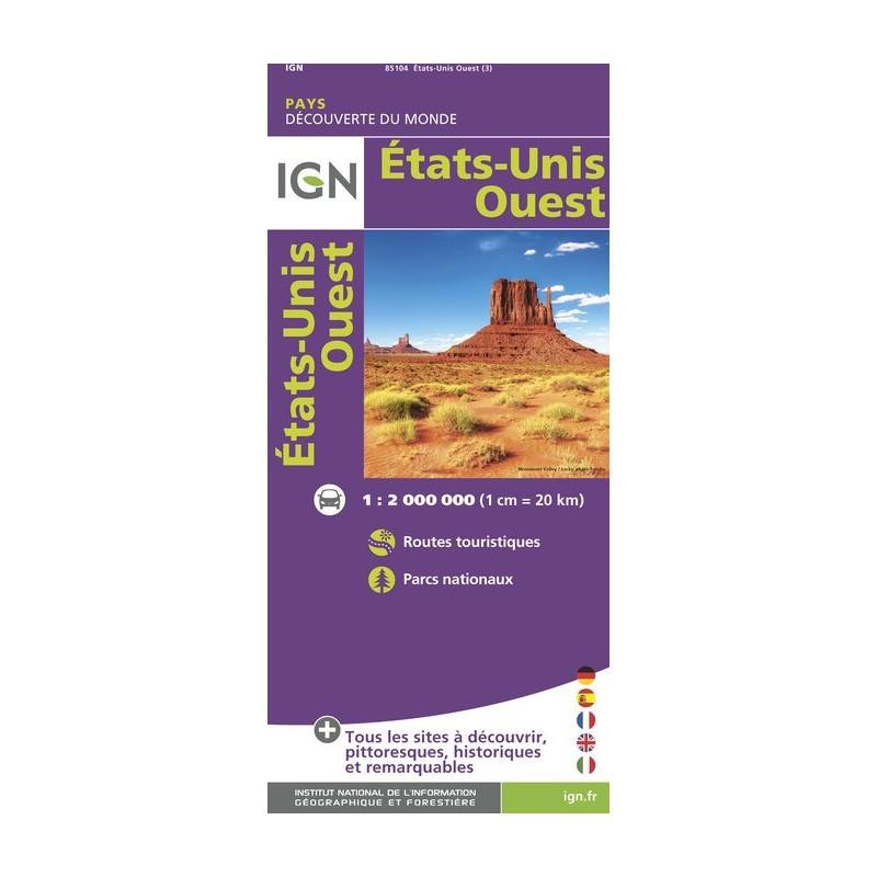 IGN Etats-Unis Ouest - Carte topographique