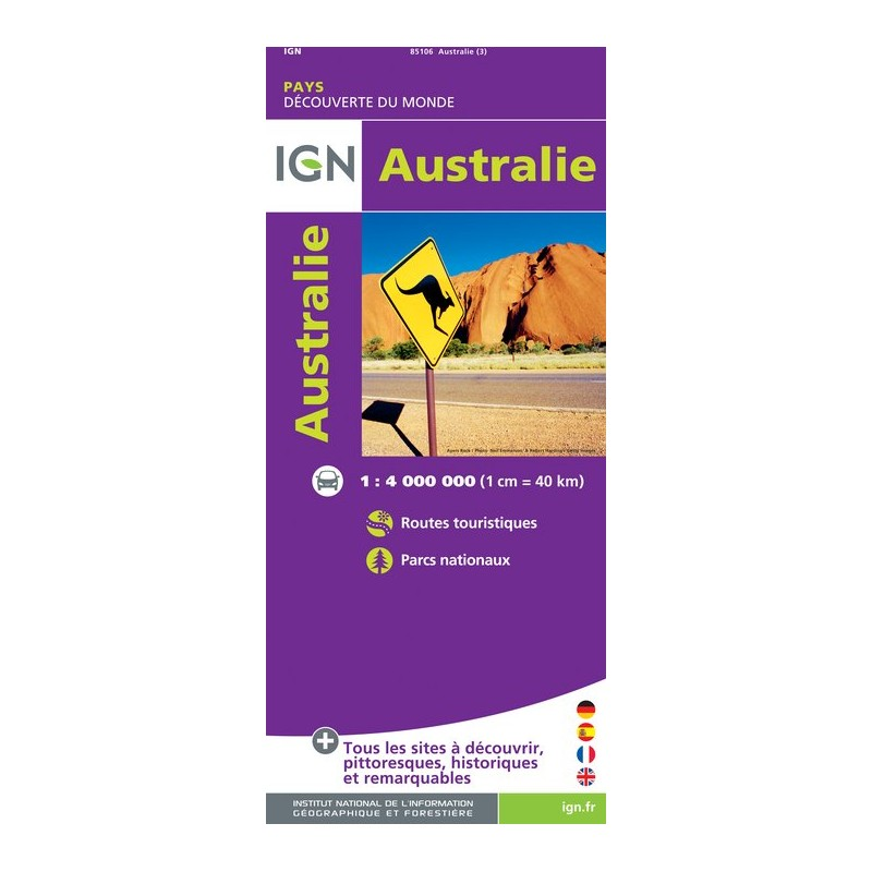 IGN Australie - Carte topographique