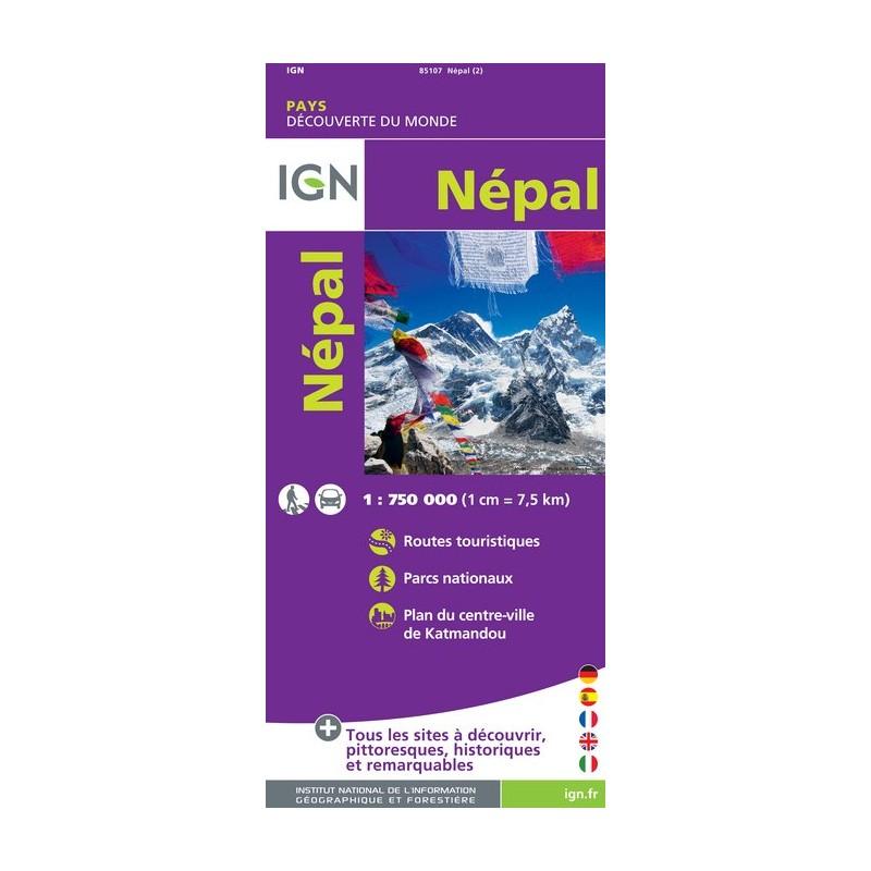 IGN Népal - Carte topographique