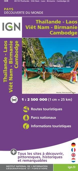 IGN Taïlande / Viêt-Nam / Laos / Cambodge - Carte topographique