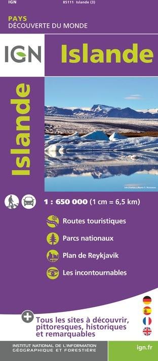 IGN Islande - Carte topographique