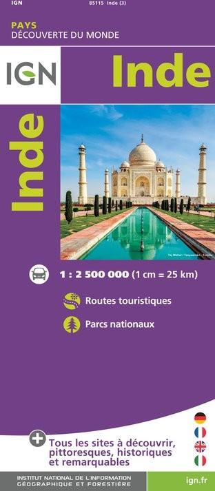 IGN Inde - Carte topographique