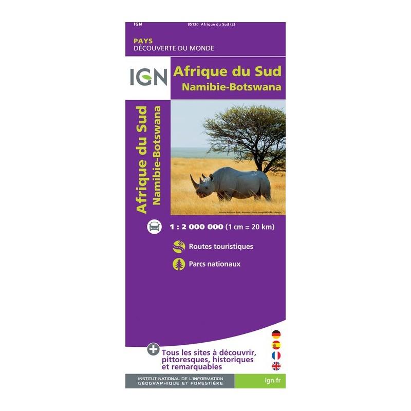 IGN Afrique Du Sud - Carte topographique
