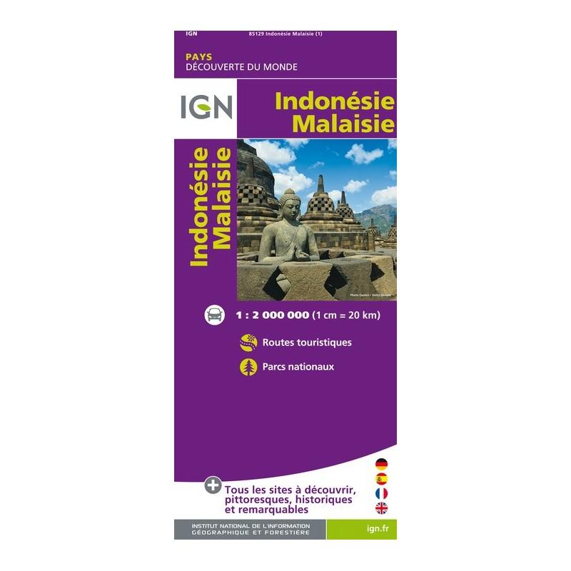 IGN Indonésie / Malaisie - Carte topographique