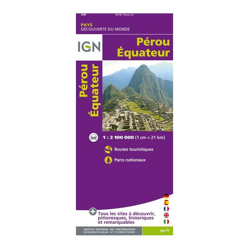 IGN Perou / Equateur - Carte topographique