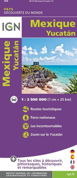 IGN Mexique / Yucatan - Carte topographique