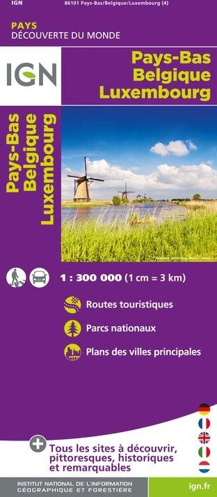 IGN Pays Bas / Belgique / Luxembourg - Carte topographique