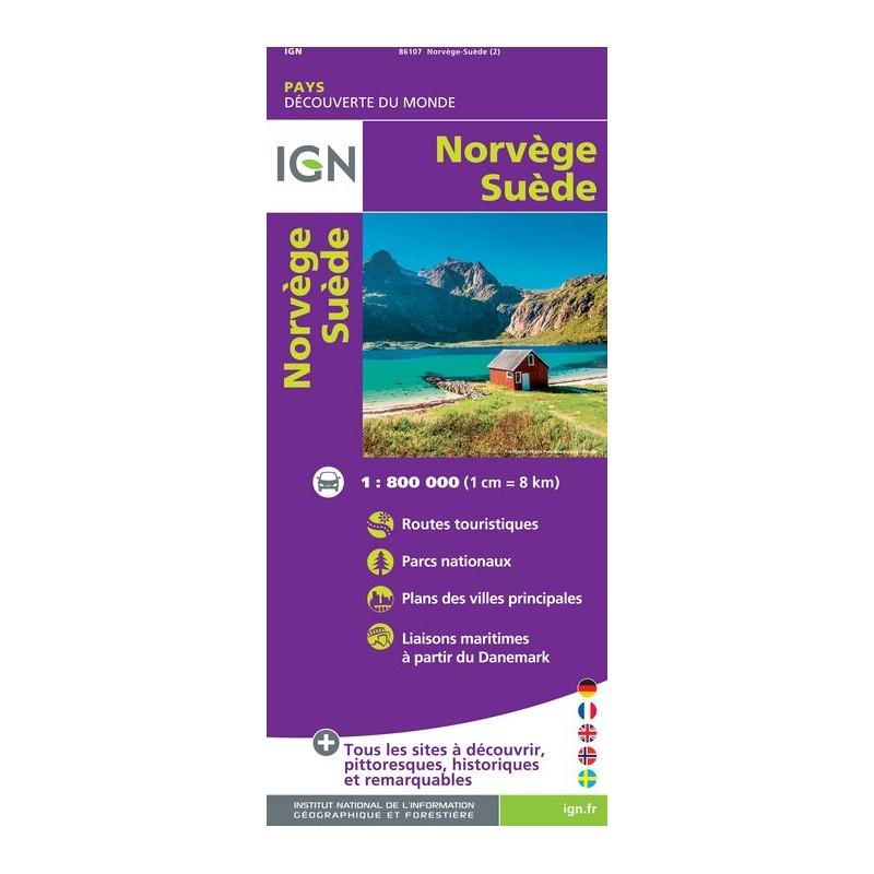 IGN Norvège / Suède - Carte topographique