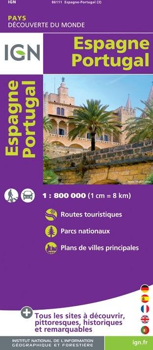 IGN Espagne / Portugal - Carte topographique