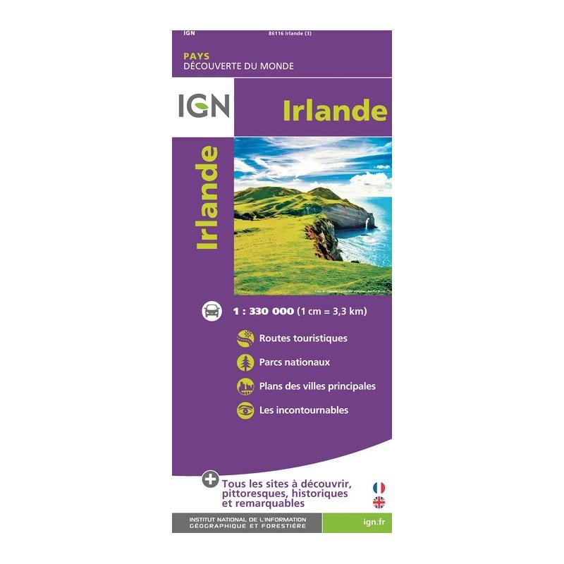 IGN Irlande - Carte topographique