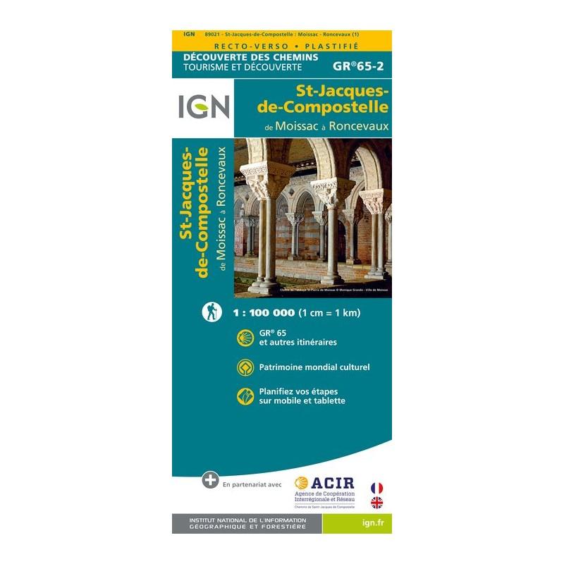 IGN St Jacques. Moissac / Ronceveaux - Carte topographique