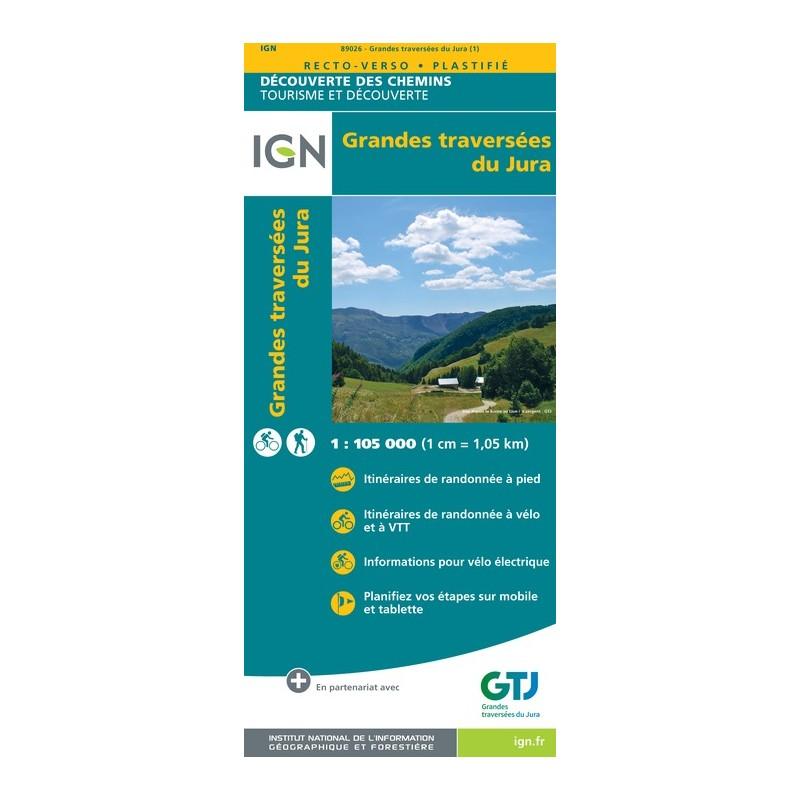 IGN Grandes Traversées Du Jura - Carte topographique