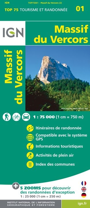 IGN Massif Du Vercors - Carte topographique