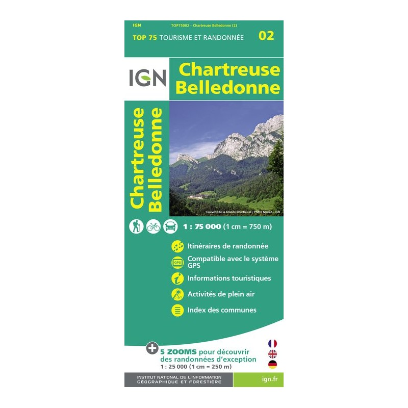 IGN Chartreuse Belledonne - Carte topographique