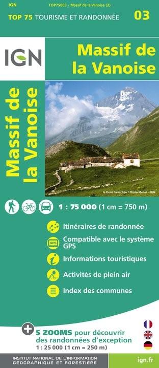 IGN Massif De La Vanoise - Carte topographique