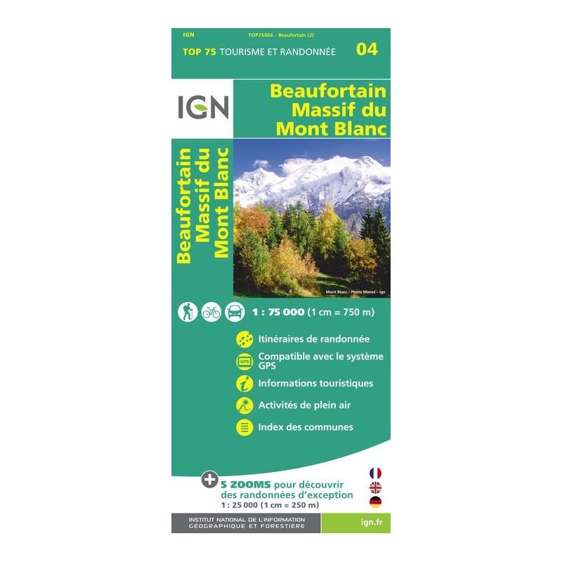 IGN Beaufortin / Massif Du Mont Blanc - Carte topographique
