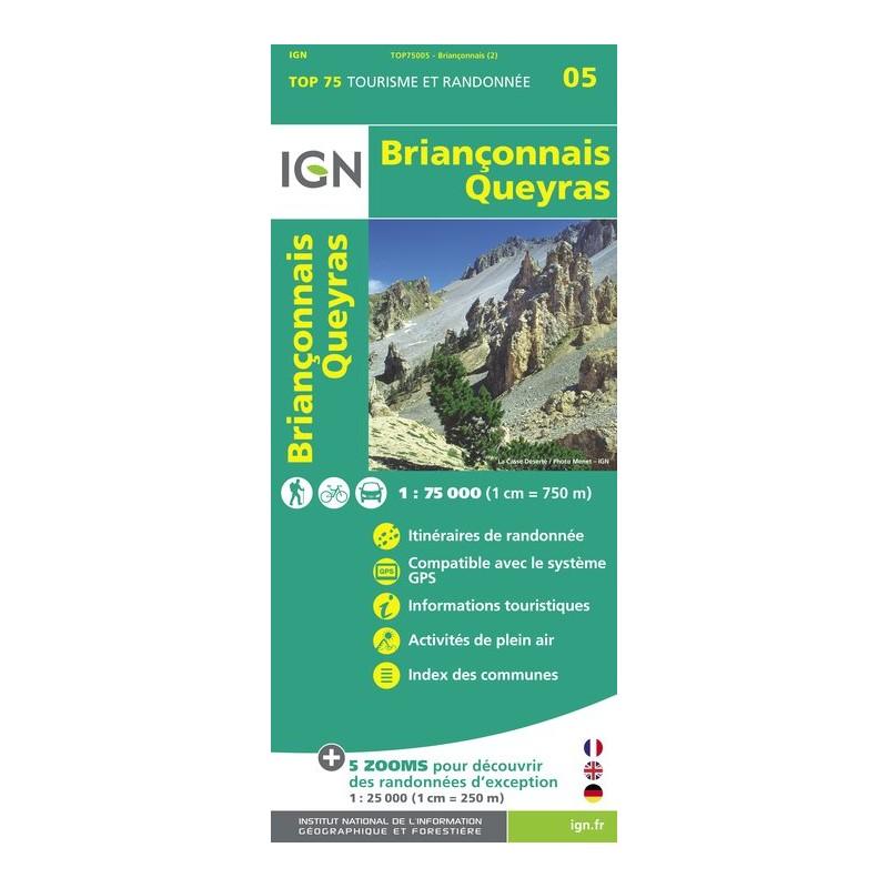 IGN Briançonnais Queyras - Carte topographique