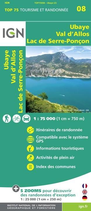 IGN Ubaye / Val-D'Allos / Lac De Serre-Ponçon - Carte topographique
