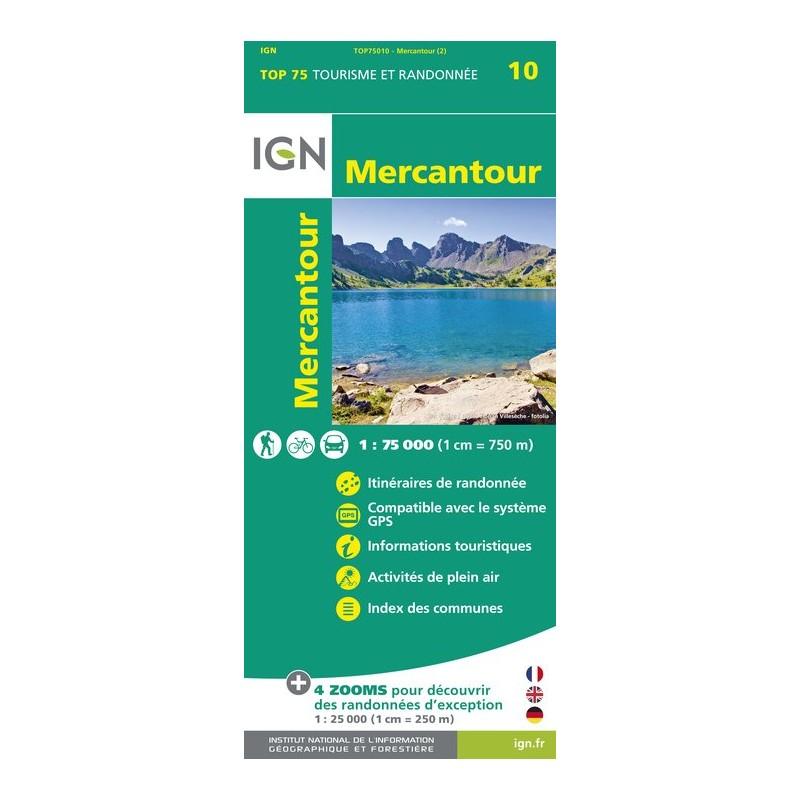 IGN Mercantour - Carte topographique