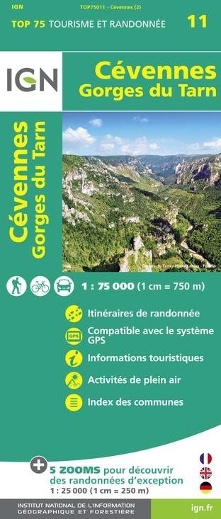 IGN Cevennes / Gorges-Du-Tarn - Carte topographique
