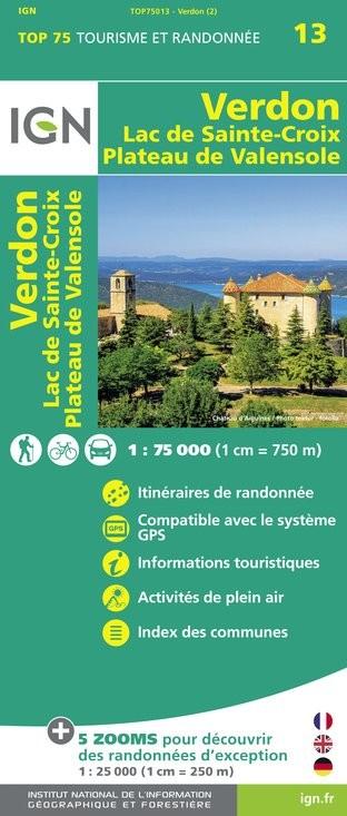 IGN Verdon / Lac-De-Ste-Croix / Plateau-De-Valensole - Carte topographique