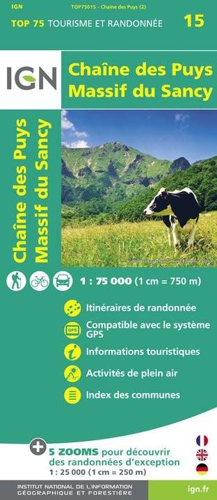 IGN Chaîne-Des Puys / Massif -Du-Sancy - Carte topographique