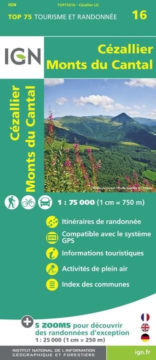 IGN Cézallier / Monts-Du-Cantal - Carte topographique